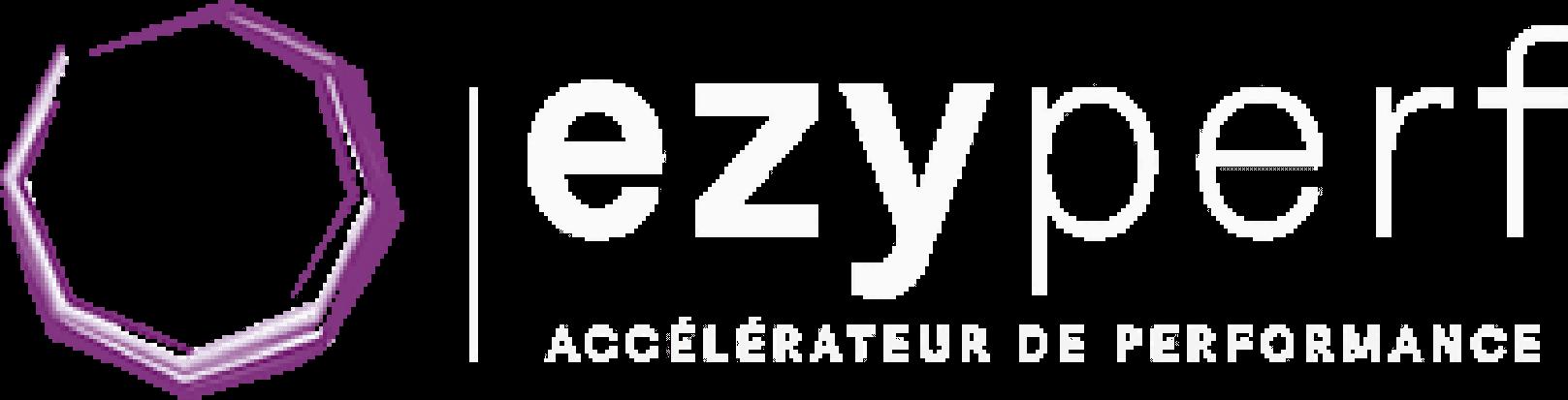 logo ezyperf blanc